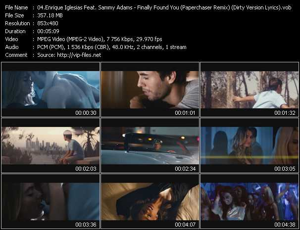 Enrique Iglesias Feat. Sammy Adams video screenshot
