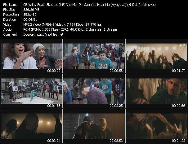 video Can You Hear Me (Ayayaya) (Hi Def Remix) screen