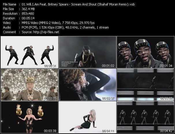 video Scream And Shout (Shahaf Moran Remix) screen
