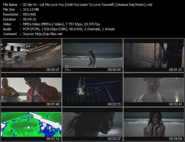 video Let Me Love You (Until You Learn To Love Yourself) (Seamus Haji Remix) screen