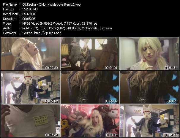 video C'mon (Wideboys Remix) screen