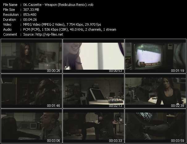 Cazzette video screenshot