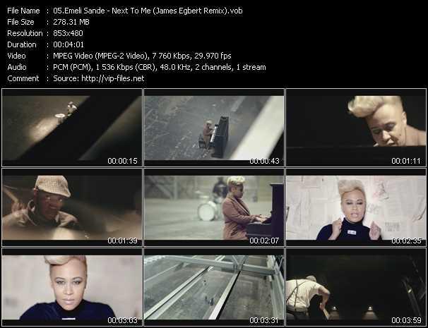 Emeli Sande video screenshot
