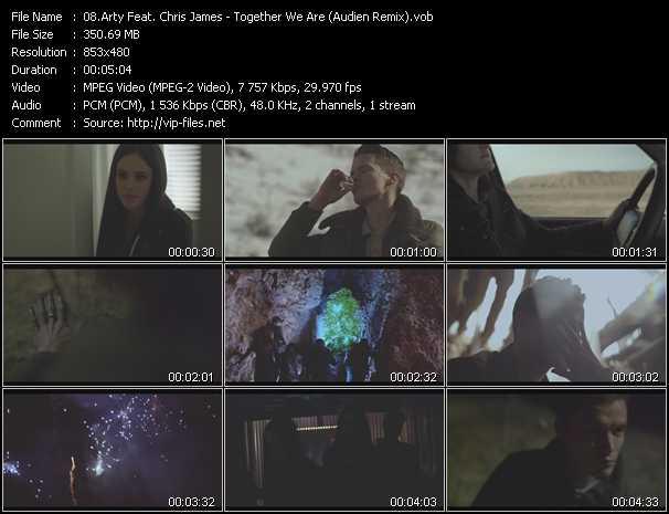 Arty Feat. Chris James video screenshot
