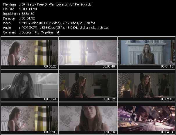 Kirsty video screenshot