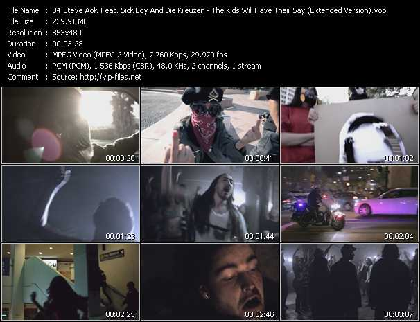 Steve Aoki Feat. Sick Boy With Former Members Of The Exploited And Die Kreuzen video screenshot