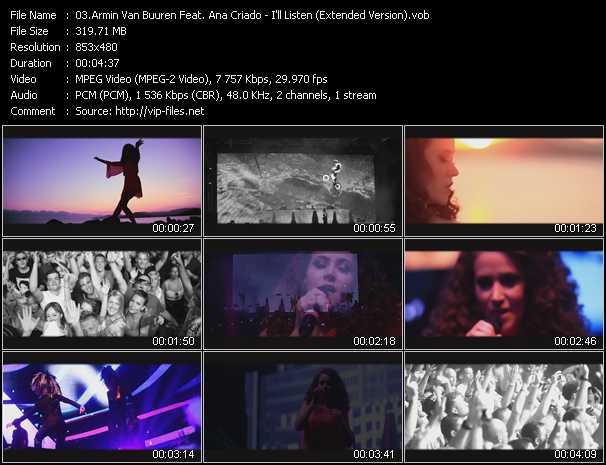Armin Van Buuren Feat. Ana Criado video screenshot