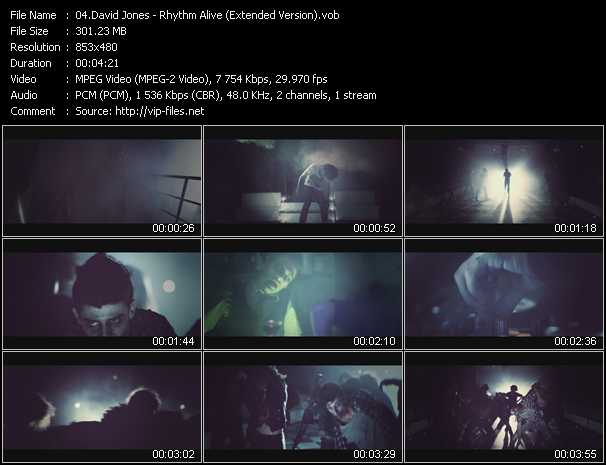 David Jones video screenshot