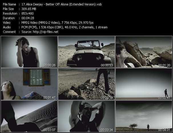Alice Deejay video screenshot