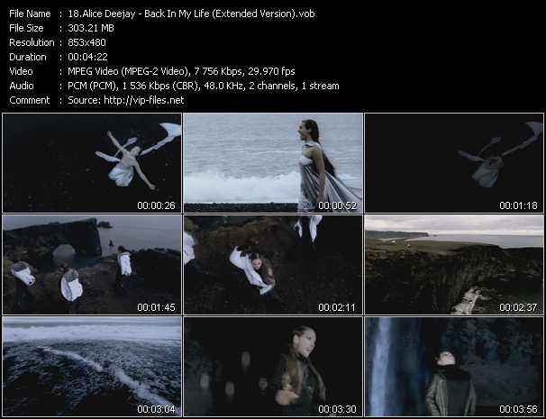 Alice Deejay video screenshot
