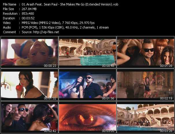 Arash Feat. Sean Paul video screenshot