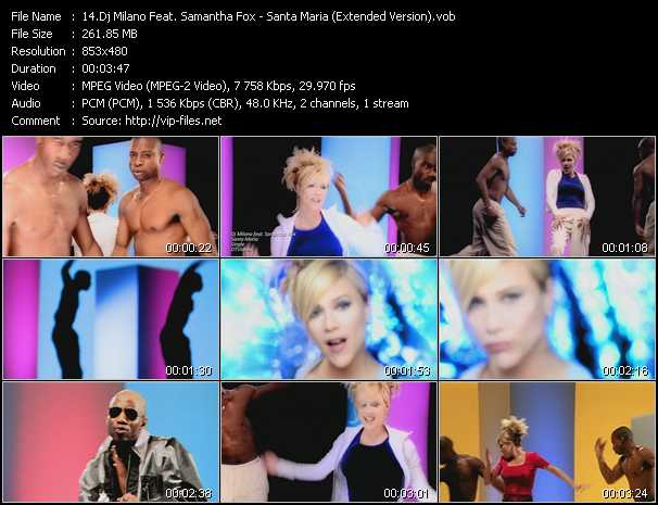 Dj Milano Feat. Samantha Fox video screenshot