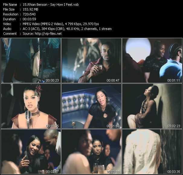 Rhian Benson video screenshot