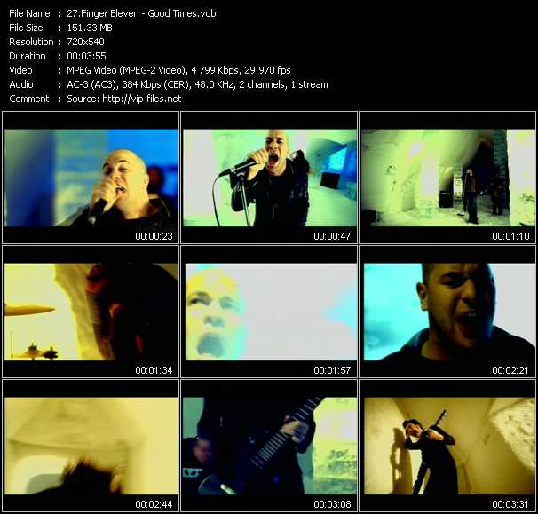 Finger Eleven video screenshot