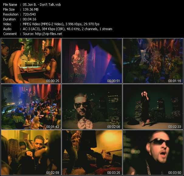 Jon B. video screenshot
