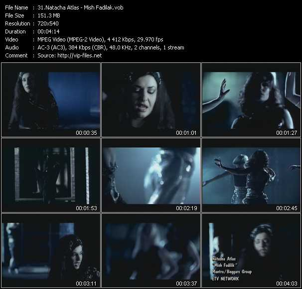 Natacha Atlas video screenshot