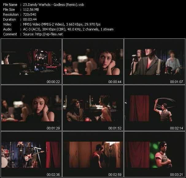 Dandy Warhols video screenshot