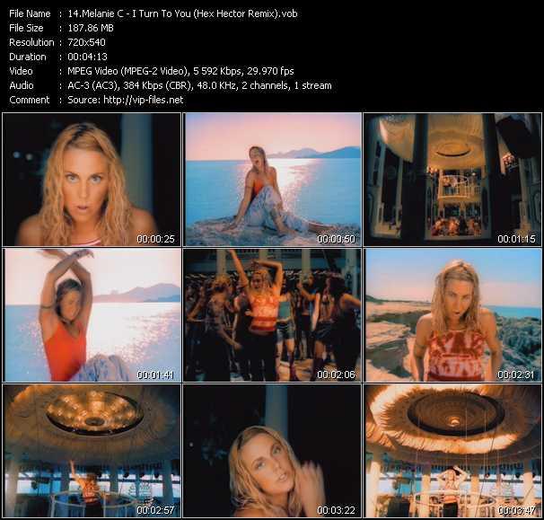 Melanie C video screenshot