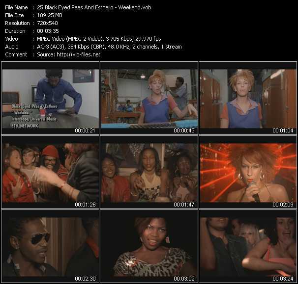 Black Eyed Peas And Esthero video screenshot
