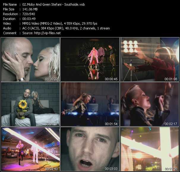 Moby And Gwen Stefani video screenshot