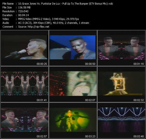 Grace Jones Vs. Funkstar Deluxe video screenshot