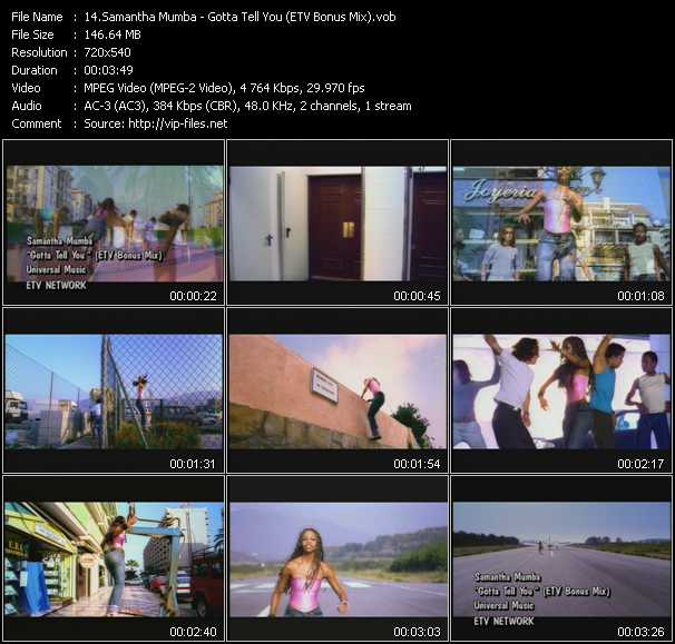 Samantha Mumba video screenshot