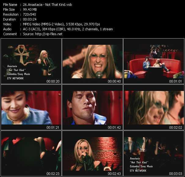 Anastacia video screenshot
