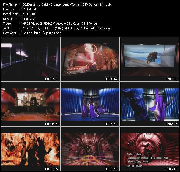Destiny's Child video screenshot