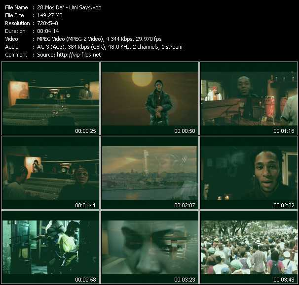 Mos Def video screenshot