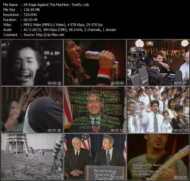 video Testify screen