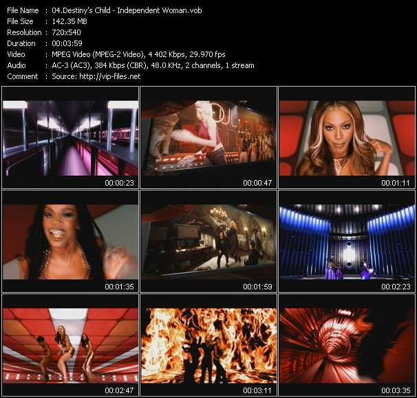video Independent Woman Part 1 screen