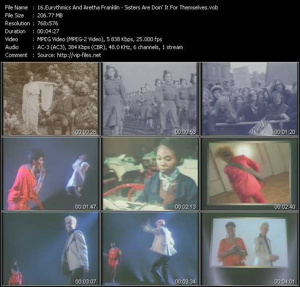 Eurythmics And Aretha Franklin video screenshot