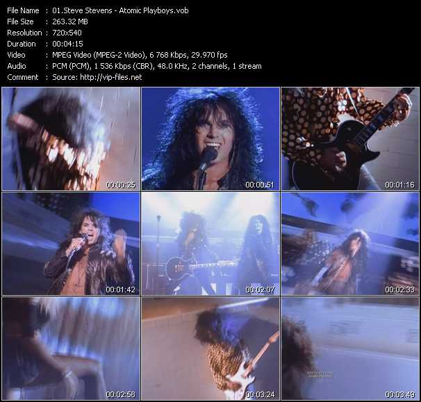 Steve Stevens video screenshot
