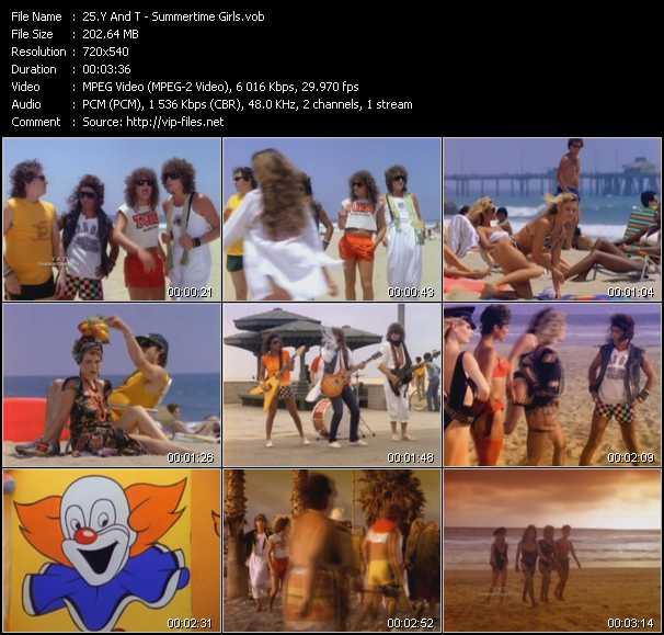 video Summertime Girls screen