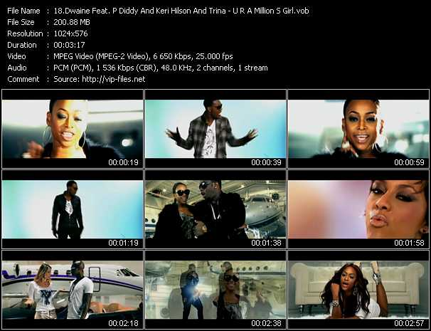 Dwaine Feat. P. Diddy (Puff Daddy) And Keri Hilson And Trina video screenshot
