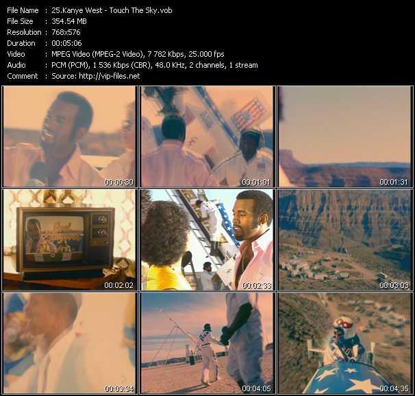 Kanye West video screenshot