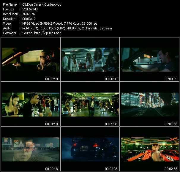 video Conteo screen