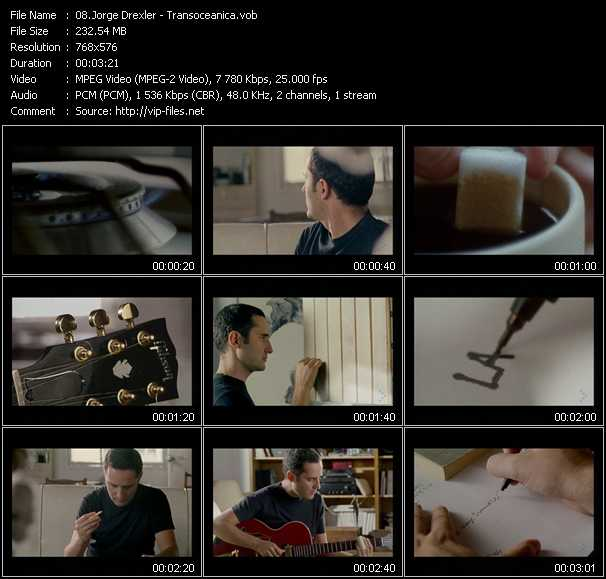 Jorge Drexler video screenshot