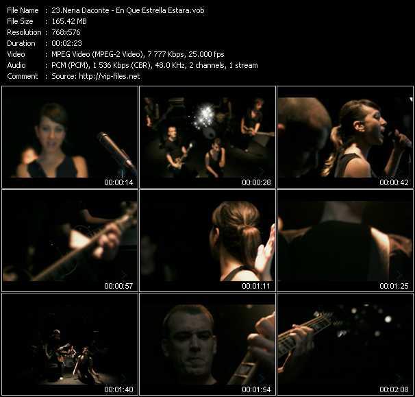 Nena Daconte video screenshot