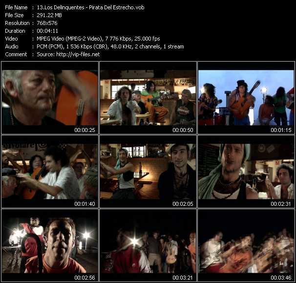 Los Delinquentes video screenshot