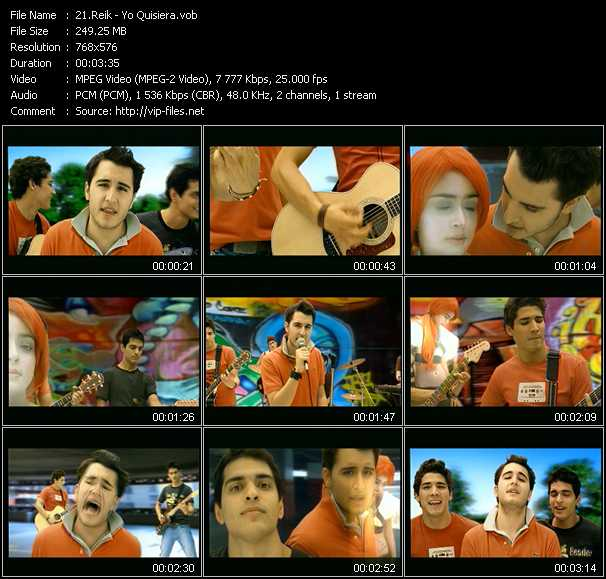 Reik video screenshot