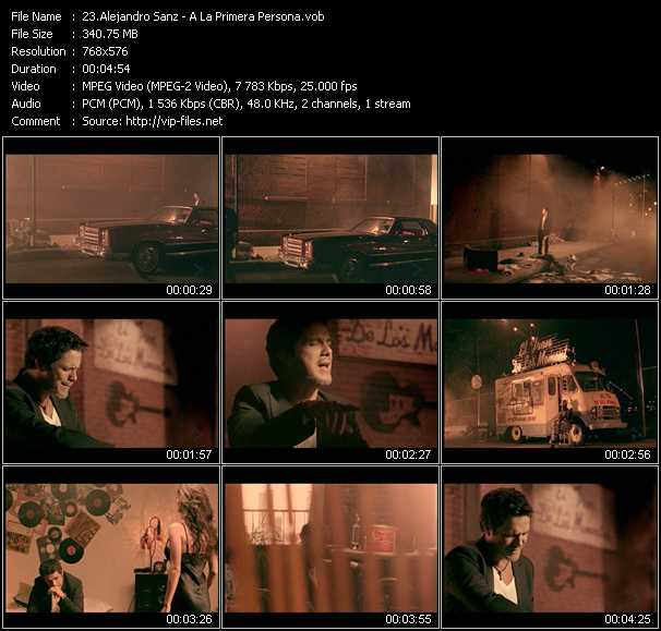 Alejandro Sanz video screenshot