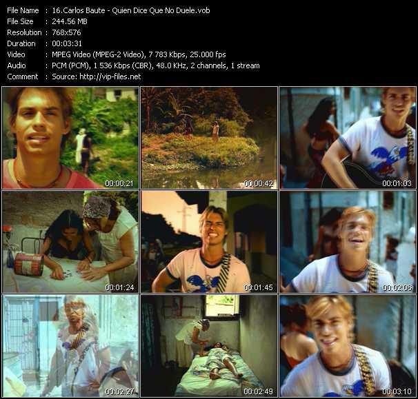 Carlos Baute video screenshot