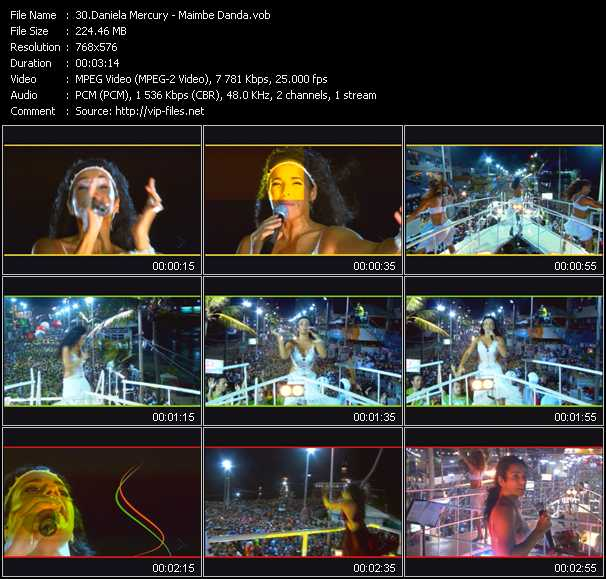 Daniela Mercury video screenshot