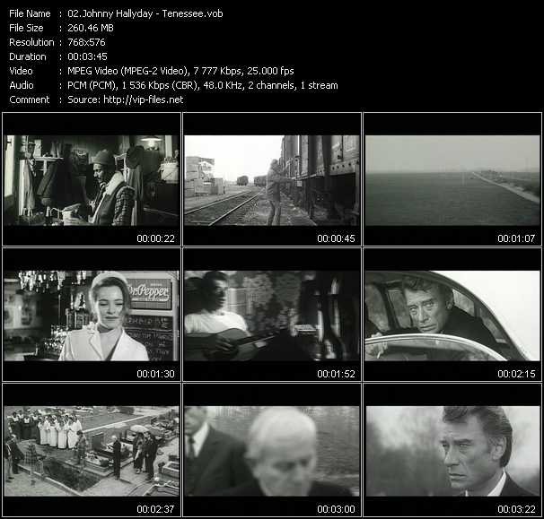 Johnny Hallyday video screenshot
