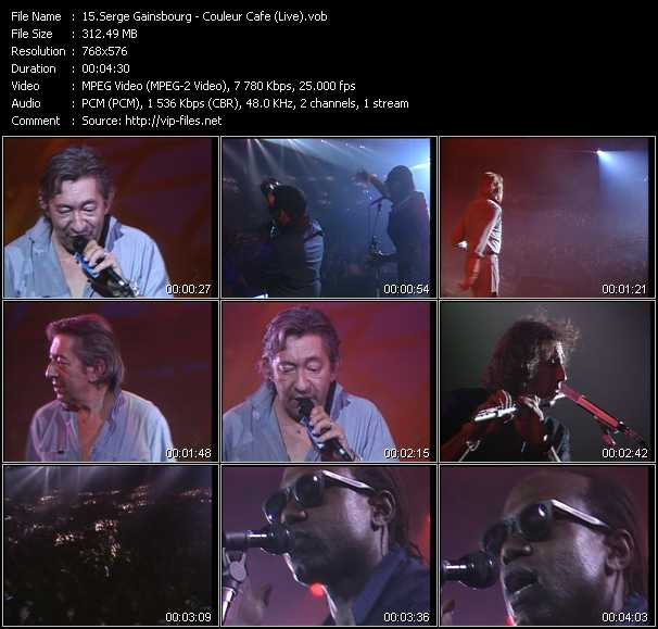 Serge Gainsbourg video screenshot
