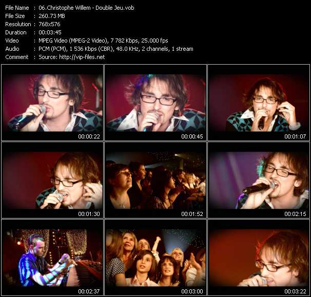 Christophe Willem video screenshot