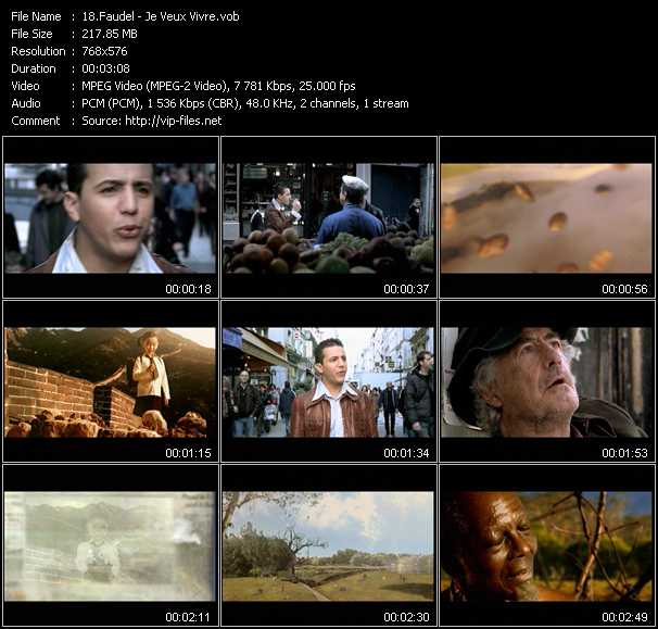 Faudel video screenshot