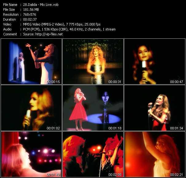 Dalida video screenshot