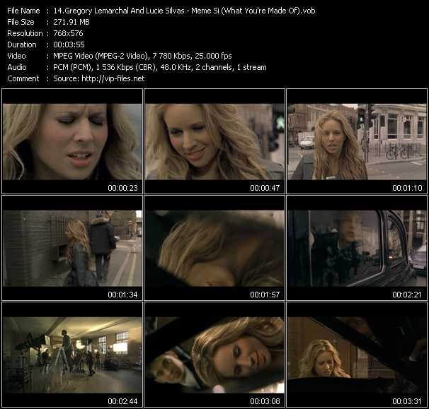 Gregory Lemarchal And Lucie Silvas video screenshot